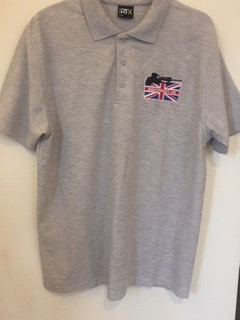 Grey Polo Shirt Embroidered